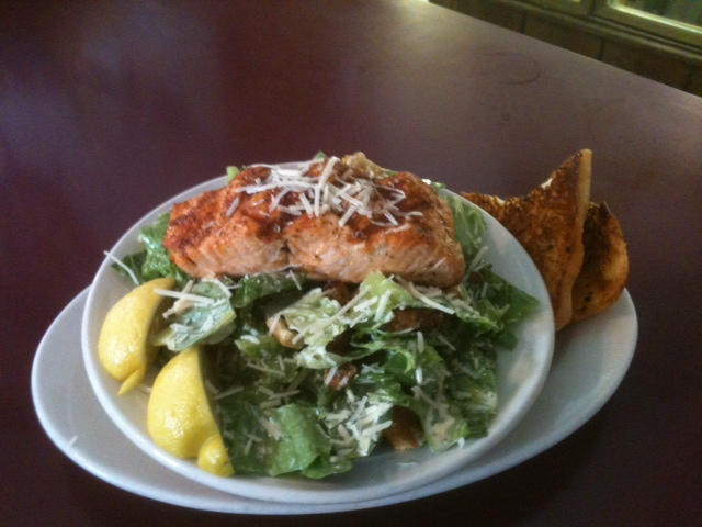 King Salmon Caesar Salad La Conner Pub & Eatery